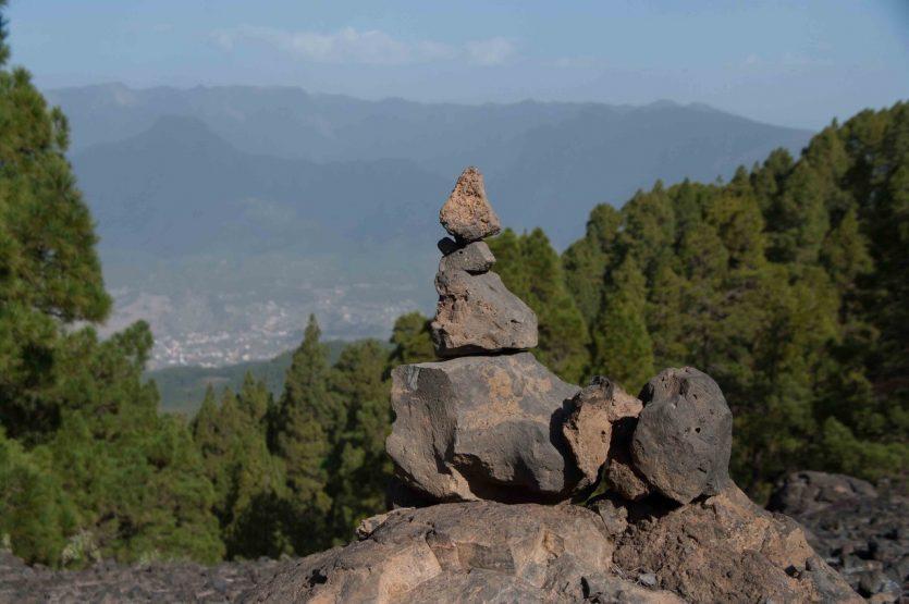 Steinmännchen vor Caldera de Taburiente