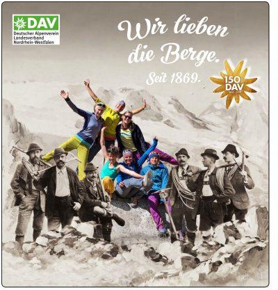 Plakat DAV 150 Jahre Jubiläum im Gasomter 02 red
