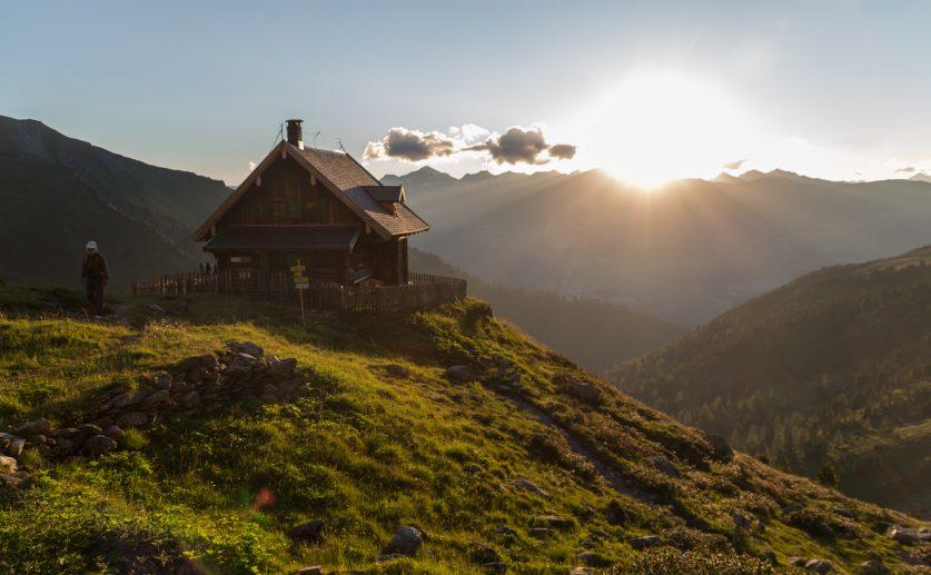 Sonnenuntergang – Anton Renk Hütte
